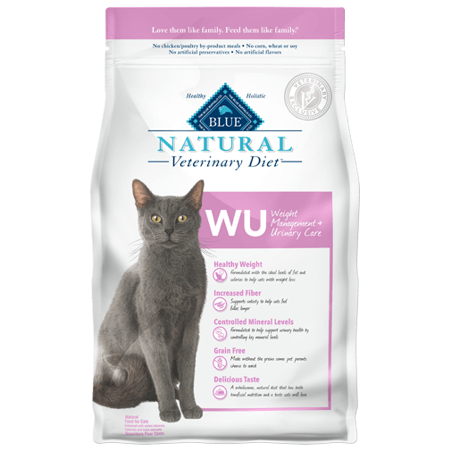 BLUE Natural Veterinary Diet WU Weight Management + Urinary Care Dry Cat Food at NJPetSupply.com