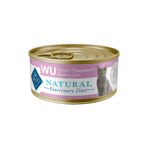 BLUE Natural Veterinary Diet WU Weight Management + Urinary Care Wet Cat Food at NJPetSupply.com