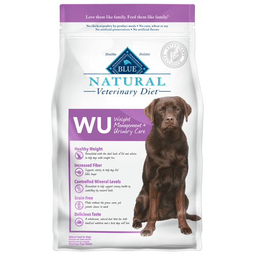 BLUE Natural Veterinary Diet WU Weight Management + Urinary Care Dry Dog Food - NJ Pet Supply