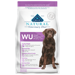 BLUE Natural Veterinary Diet WU Weight Management + Urinary Care Dry Dog Food at NJPetSupply.com
