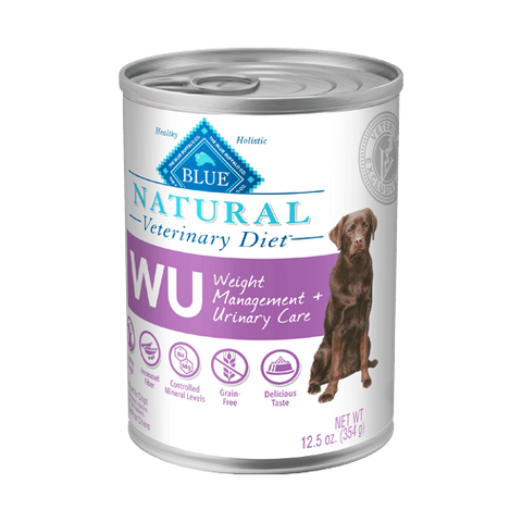 BLUE Natural Veterinary Diet WU Weight Management + Urinary Care Wet Dog Food at NJPetSupply.com