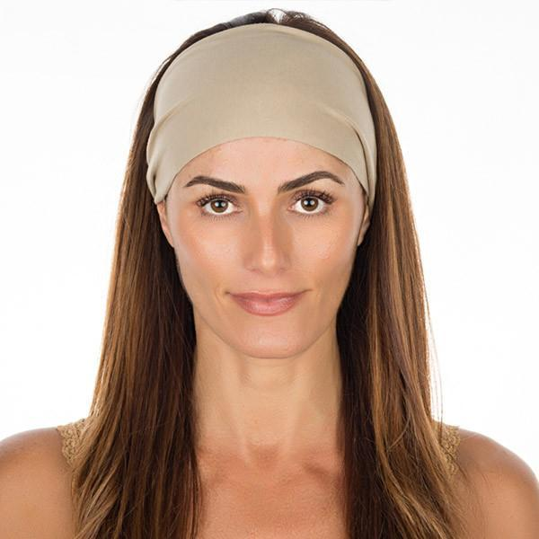 Tan Cotton Non Slip Headband