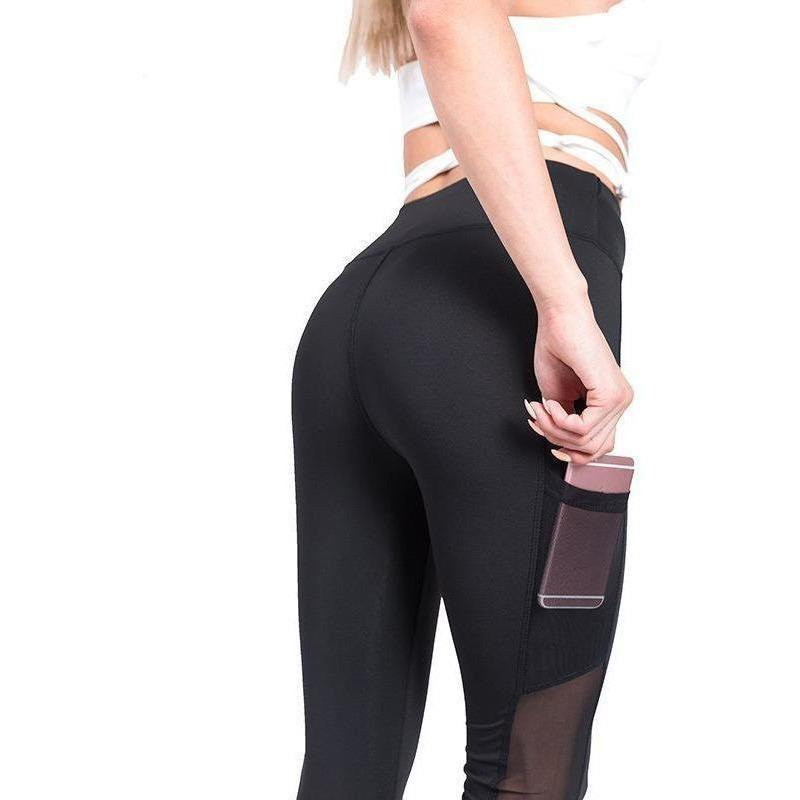Mesh Panel Phone Holder Ventilated Leggings