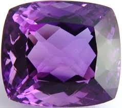 10MM CUSHION (CHECKERBOARD)  AMETHYST  LOOSE GEMSTONE