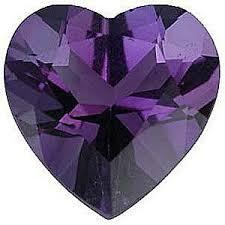 3MM  HEART AMETHYST  LOOSE GEMSTONE