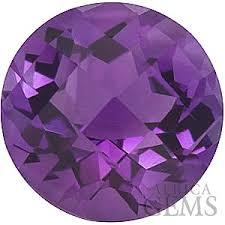 12MM  ROUND  (CHECKERBOARD) AMETHYST LOOSE GEMSTONE