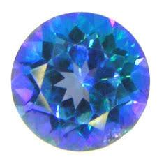12MM  ROUND BLUE MYSTIC TOPAZ  LOOSE GEMSTONE