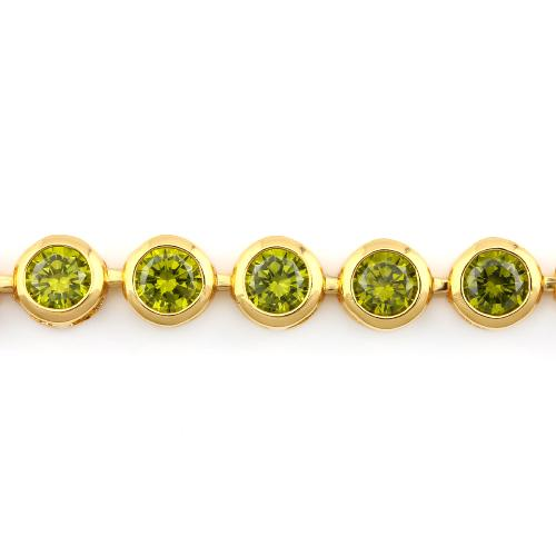 18K GOLD PLATED GERMAN SILVER BRACELET