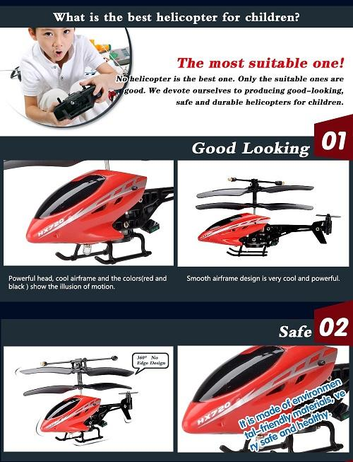 HX720 2CH RC Helicopter Kids Child Infrared Remote Control