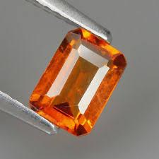 10x12MM OCTAGON COGNAC CREATED HESSONITE  LOOSE GEMSTONE