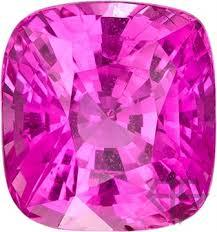 8MM CUSHION CREATED PINK SAPPHIRE  LOOSE GEMSTONE