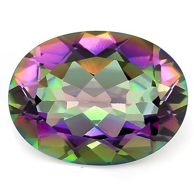 GREAT 12.8 CARAT TW (1 PCS) MYSTIC TOPAZ MAGICAL RAINBOW GEMSTONE
