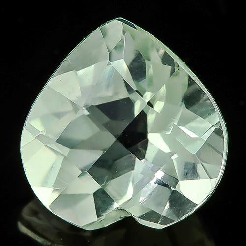 1.73 CARAT CHECKERBOARD HEART SHAPE GREEN AMETHYST LOOSE GEMSTONE