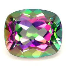 10MM CUSHION GREEN MYSTIC TOPAZ  LOOSE GEMSTONE