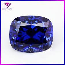 12MM   CUSHION LAB TANZANITE  LOOSE GEMSTONE