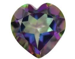 10MM  HEART MYSTIC TOPAZ   LOOSE GEMSTONE