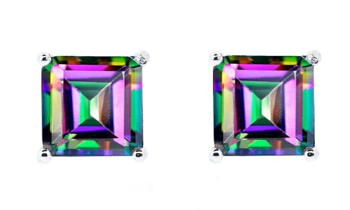 10MM SQUARE  MYSTIC TOPAZ  LOOSE GEMSTONE