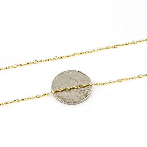 $2.99 per chain(5pcs) - SPECTACULAR YELLOW GOLD PLATED PURE 925 ITALY STERLING SILVER NECKLACE- 20 INCHES