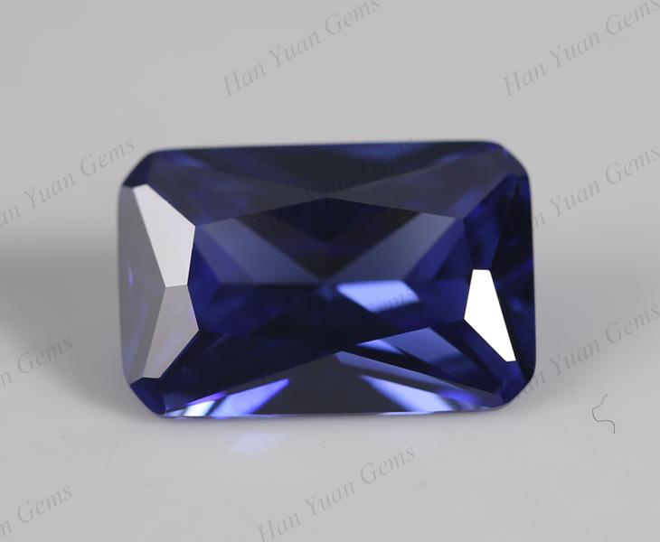 3x5MM OCTAGON  LAB TANZANITE  LOOSE GEMSTONE