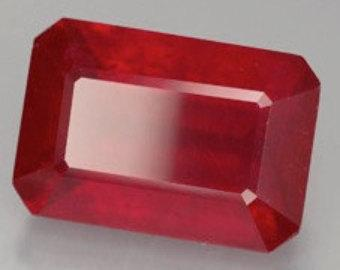 3x5MM OCTAGON  RUBY  LOOSE GEMSTONE