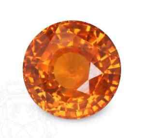 2.5MM ROUND ORANGE SAPPHIRE    LOOSE GEMSTONE