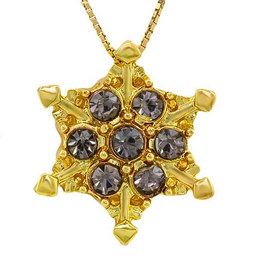 BEAUTEOUS ! CREATED SAPPHIRE 18K GOLD PLATED GERMAN SILVER PENDANT
