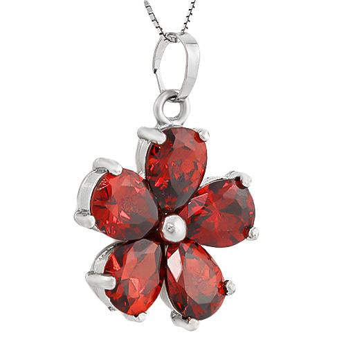 GLAMOROUS ! CREATED RUBY 18K GOLD PLATED GERMAN SILVER PENDANT