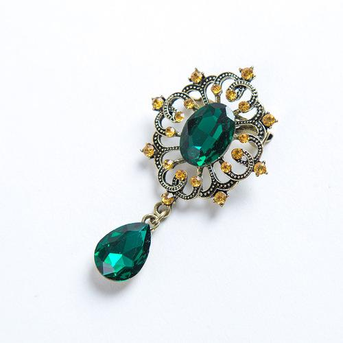 IMMACULATE ! 18K GOLD PLATED GERMAN SILVER BROOCH