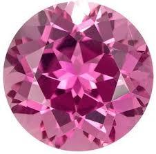 3MM ROUND CREATED PINK TOPAZ   LOOSE GEMSTONE