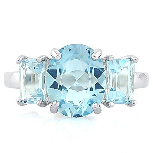 4 1/2 CT BABY SWISS BLUE TOPAZ 925 STERLING SILVER RING