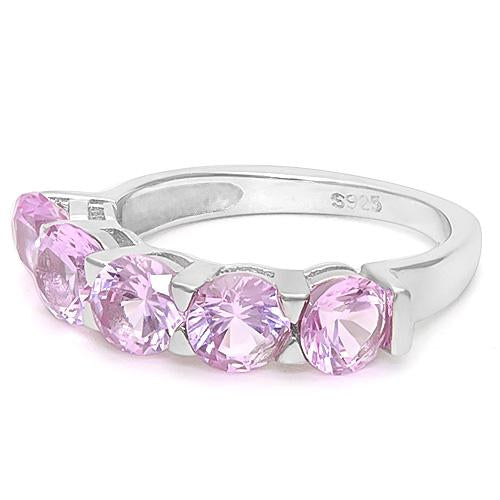 3 CT CREATED PINK SAPPHIRE 925 STERLING SILVER RING