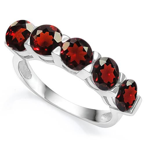 3 CT GARNET   925 STERLING SILVER RING