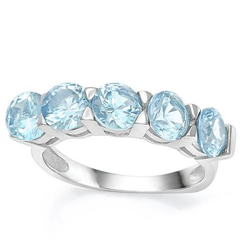 3 CT BABY SWISS BLUE TOPAZ   925 STERLING SILVER RING