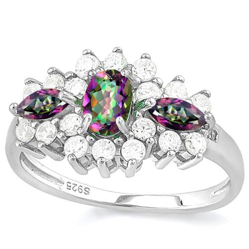 MYSTIC GEMSTONE 925 STERLING SILVER RING