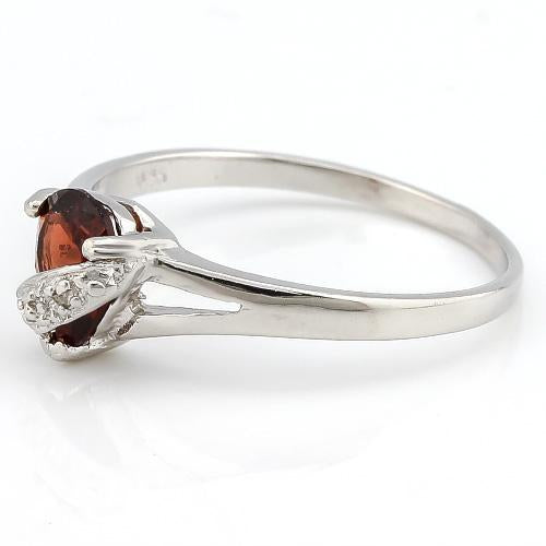 PRICELESS ! 4/5 CARAT GARNET & DIAMOND 925 STERLING SILVER RING