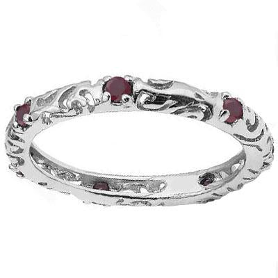 1/3 CT RUBY 925 STERLING SILVER RING