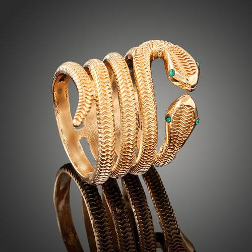 IDEAL ! 18K GOLD PLATED SNAKE DESIGNER RING