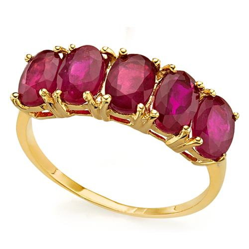 BRILLIANT ! 3.40 CARAT AFRICAN RUBY 10KT SOLID GOLD BAND RING