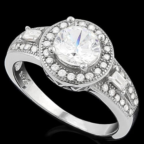 PRECIOUS ! 1 CARAT FLAWLESS CREATED DIAMOND 925 STERLING SILVER RING