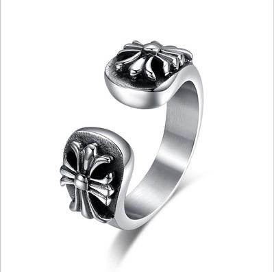 EXCELLENT THE NEW MENS FASHION RETRO PUNK STYLE OPENING TITANIUM STEEL RING