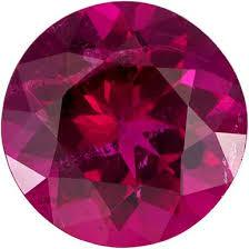 2.5MM ROUND CREATED RED TOURMALINE   LOOSE GEMSTONE