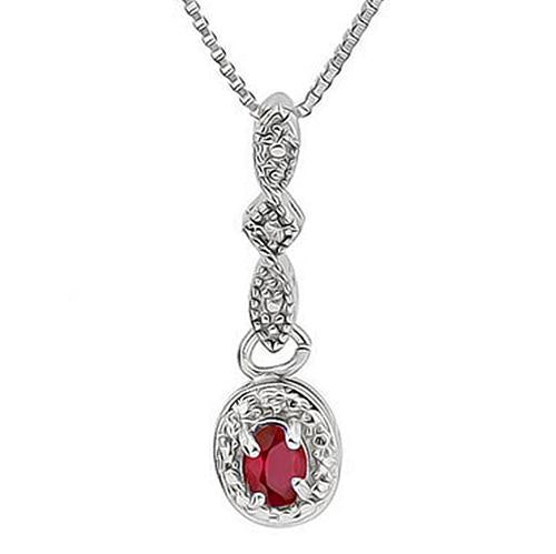 3/5 CARATRUBY & DIAMOND 925 STERLING SILVER SET