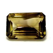 10x12MM OCTAGON SMOKEY TOPAZ  LOOSE GEMSTON