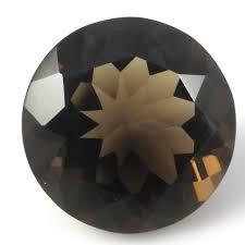 12MM  ROUND  (CHECKERBOARD) SMOKEY TOPAZ  LOOSE GEMSTONE