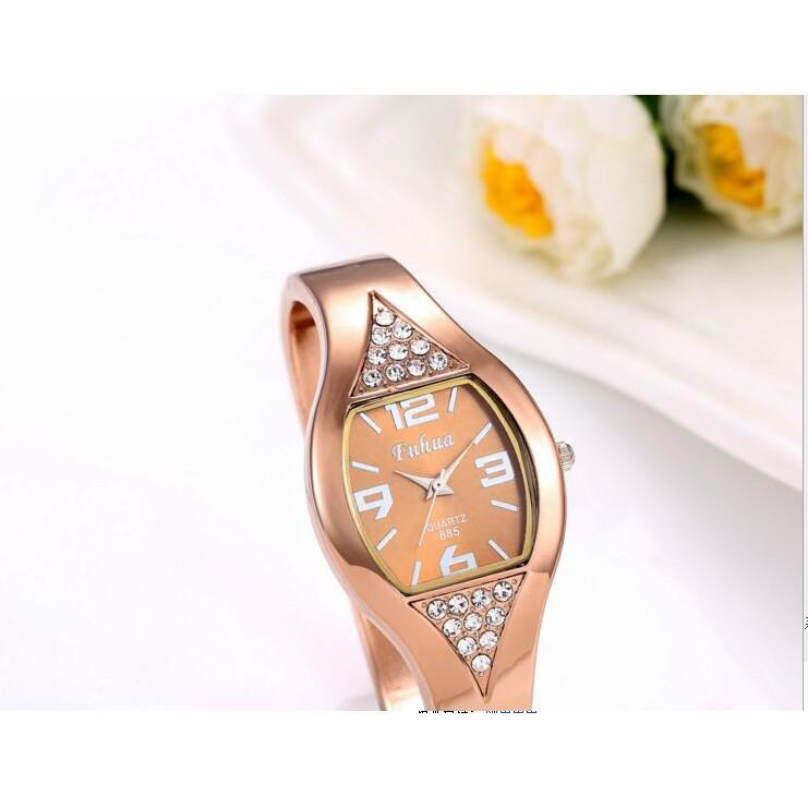 Women's Fashion Bracelet Watch Rose Gold Wristwatch