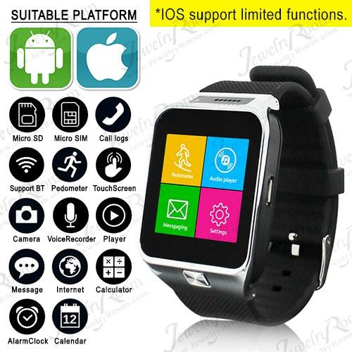 ELEGANT ! WATER RESISTANT SMARTWATCH PHONE 1.3M CAMERA BEST SPORT HEALTH WATCH FOR IOS ANDROID