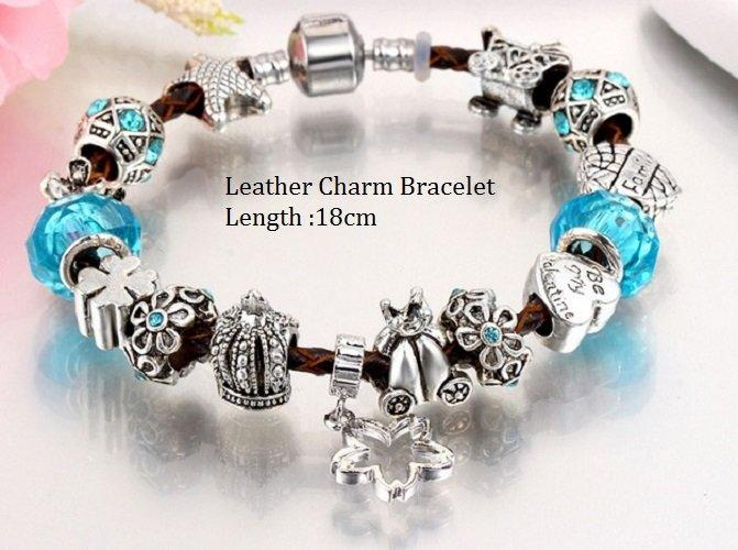 Murano Glass Beads Fashion German Silver Bracelet With Austraian Crystal Stones (Latest Design)