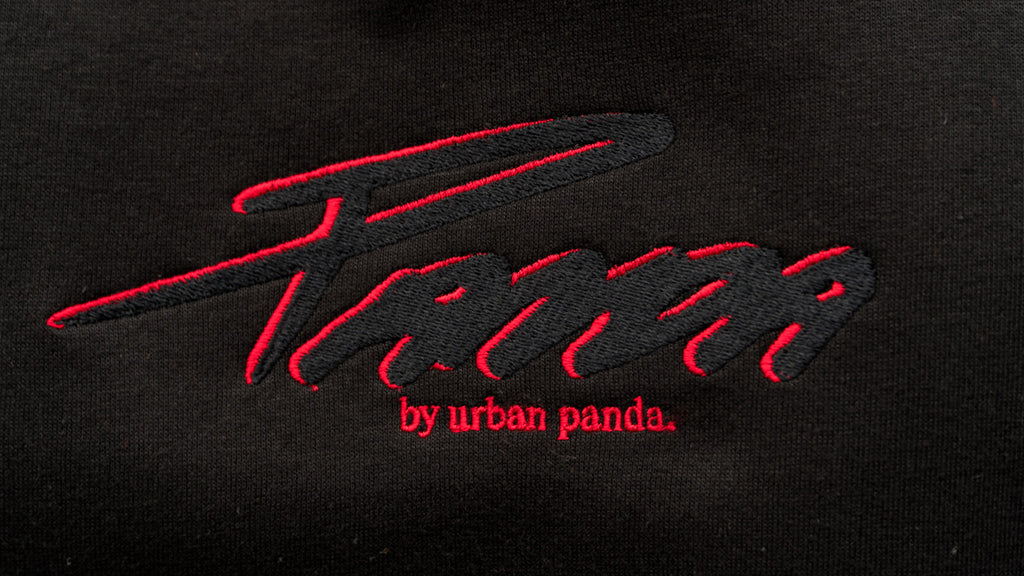 "Urban Panda ""Oriental Art""  crew neck sweatshirt - Black"