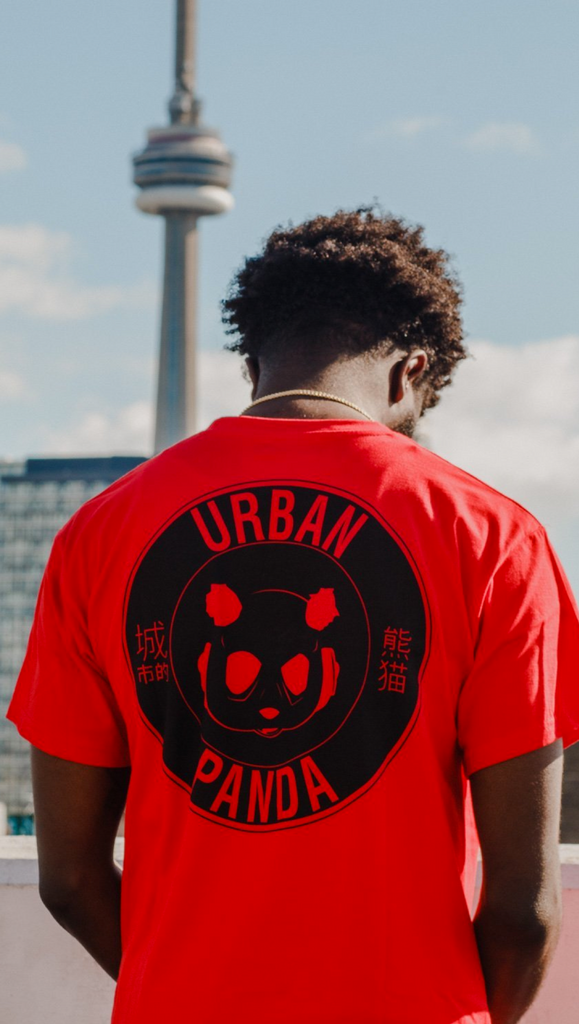 Urban Panda: OG Collection PANDA 3:16 T shirt - Red