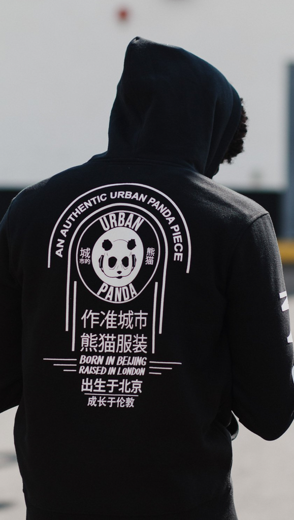 Urban Panda: OG Collection Signature Hoodie - Black